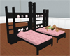 ~D~ Pink/blk double bed
