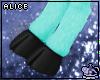 Aqua Blue Faun Legs