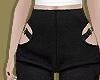 Cutout Wool Blend Pants