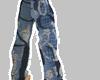 BLUE BAGGY BOXER PANTS