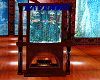 fireplace with fishtank