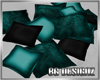 [BGD]Black-Teal Pillows