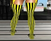 Thigh boots yellow black