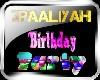 2PAALiYAH Birthday Sign
