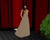 coffee evening dress