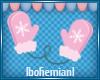 Pink Mittens Sticker
