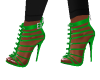 Zipper Green Heels