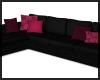Black Rose L Shaped Sofa