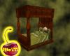 Burl Oak Four Poster Bed