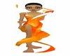 animated Orange Dress