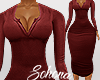 ṩNina Dress rl Wine