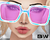 Pink Paint Sunglasses SQ