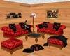 Red Livingroom Set