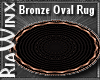 MC Bronze Oval Rug