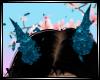 Glitter Blue Horns