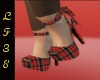 Bow Shoes Red Blk 7
