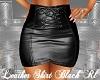 Leather Skirt Black Rl