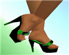 green cow sandals