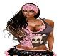 blk  hair pink bandana