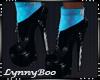 *Mayai Aqua Black Boots