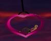 pink heart cuddle swing