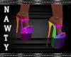 Sheer Rainbow Heels