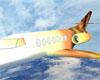 gold private plane jet