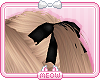 ♛Black Hair Bows