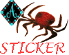 {Ama-Black Widow sticker