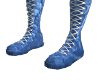 Blue Leather High Boots