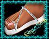 New White&Blue Sandal
