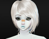 White short emo hairs