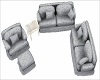Couch Loveseat + Chair