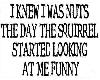 i knew i was nuts stickr