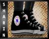 S| Black Converse