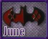 Poker Bat Earrings