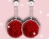 Z>Red Fur Earrings