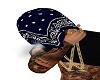 BLUE BANDANA HEAD TOWEL