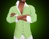 slim shirt aqua green