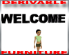 Welcome Wall Sign 3d