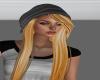 gray hoody hat hair