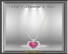 Pink Diamond Heart Neck