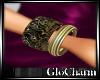 Glo*BlackOnyxGoldWrist-R