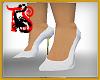 TS White Glitter Heels