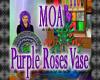 MOA Purple Roses Vase