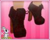 !B! RedFloral Boot Heels