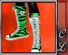 Converse Green Zebra