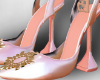 -Mm- rose and gold heels