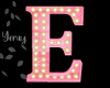 Pink Wood Letter E