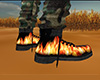 Combat Boots with Flames